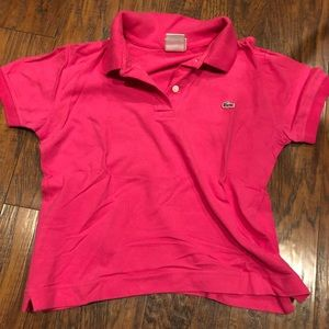 NWT Lacoste hot pink polo shirt
